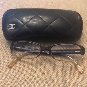 Navy, Cream & Silver Chanel Glasses